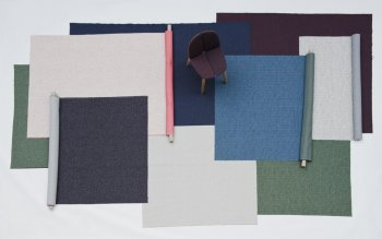 Textile Kvadrat - 3D knitted fabric: Canal, Moraine, Gravel